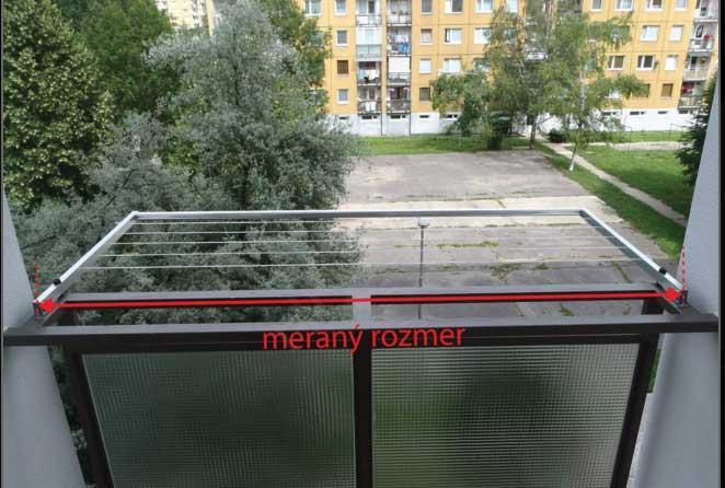 Balkónový sušiak preklopný strieborný (BS/EV1)