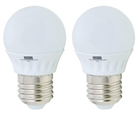 2 PACK LED zdroj mini globe, E27, 4W, 4200K