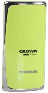CROWN Powerbank 5200 mAh, zelená
