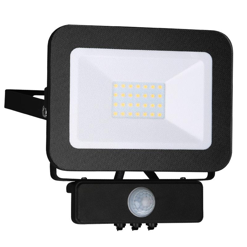 LED HQ reflektor PIR 30W/4000K čierny (LF2023S)