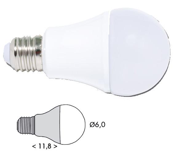 Ecolite LED žiarovka E27 5W studená biela