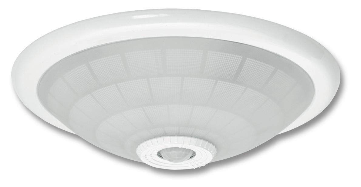 Ecolite WHST78-BI (Stropné svietidlo biele 2xE27 s PIR senzorem, max 2x40W)