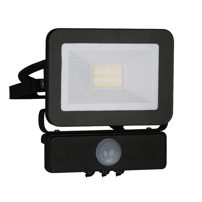 LED HQ reflektor PIR 10W/4000K čierny (LF2021S)