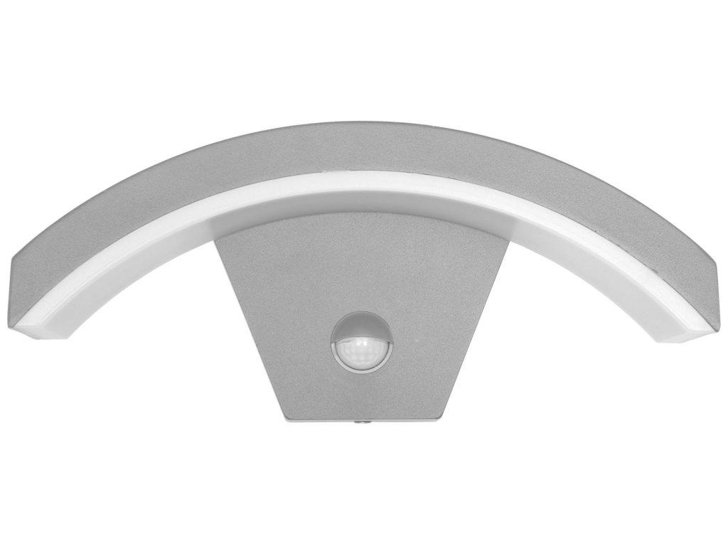 Hliníkové senzorové fasádne svietidlo STYL šedé (Z1107/PIR-SED)