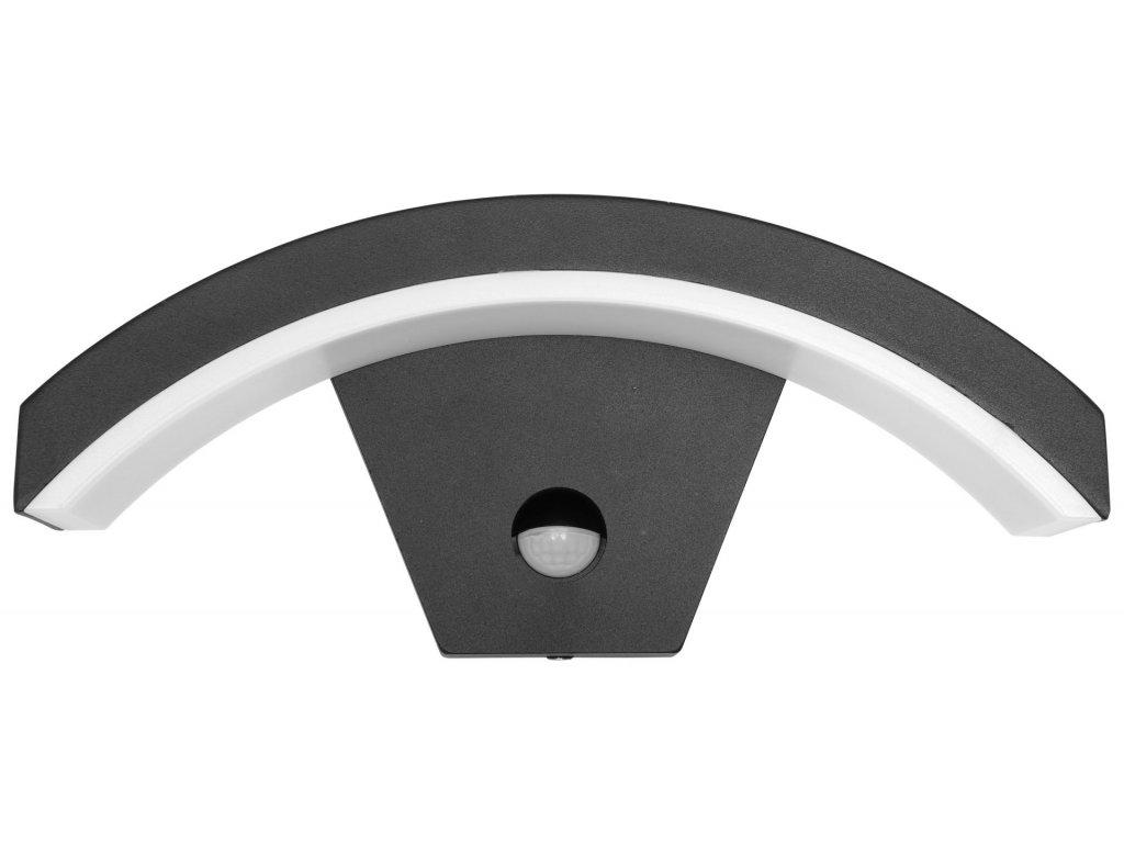 Hliníkové senzorové fasádne svietidlo STYL tmavošedé (Z1107/PIR-CR)