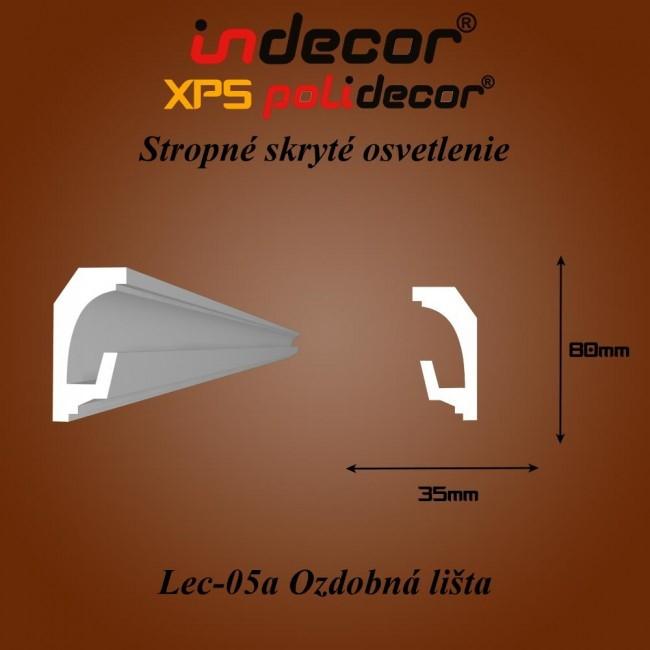 Lec-05A Stropné skryté osvetlenie ozdobné lišty - 2m (Lec-05A)