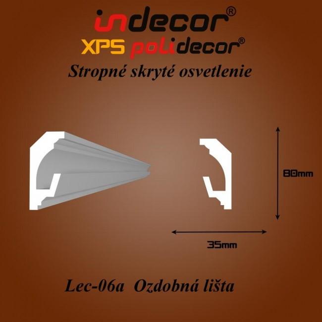 Lec-06A Stropné skryté osvetlenie ozdobné lišty - 2m (Lec-06A)