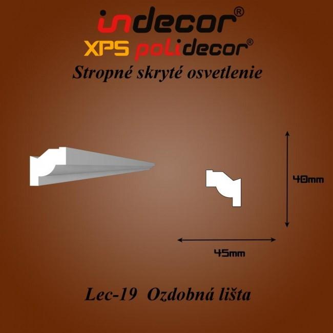 Lec-19 Bočné skryté ozdobné lišty - 2m (Lec-19)