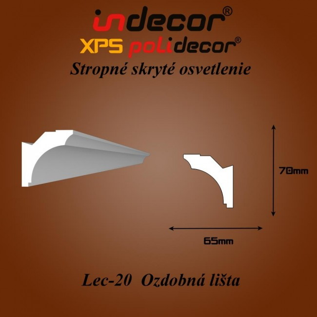 Lec-20 Bočné skryté ozdobné lišty - 2m (Lec-20)