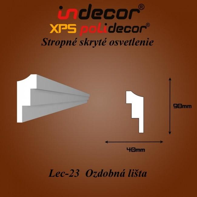 Lec-23 Bočné skryté ozdobné lišty - 2m (Lec-23)