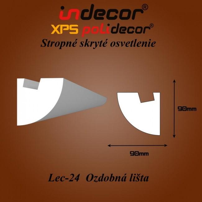 Lec-24 Bočné skryté ozdobné lišty - 2m (Lec-24)