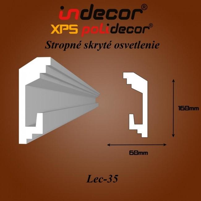 Lec-35 Stropné zapustené osvetlenie lišty - 2m (Lec-35)