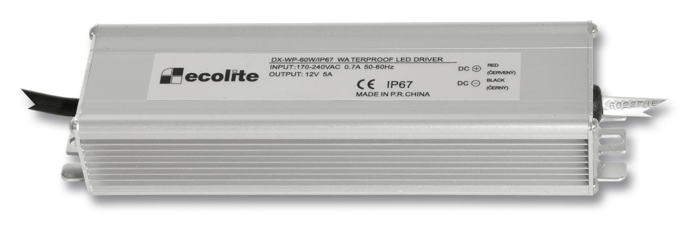Ecolite DX-WP-60W/IP67 (El. trafo,230V-12V,5A,60W)