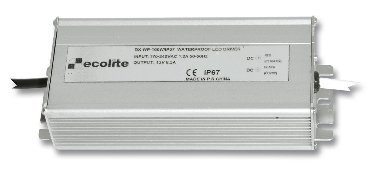 Ecolite DX-WP-100W/IP67 (El. trafo,230V-12V,8.3A,100W)