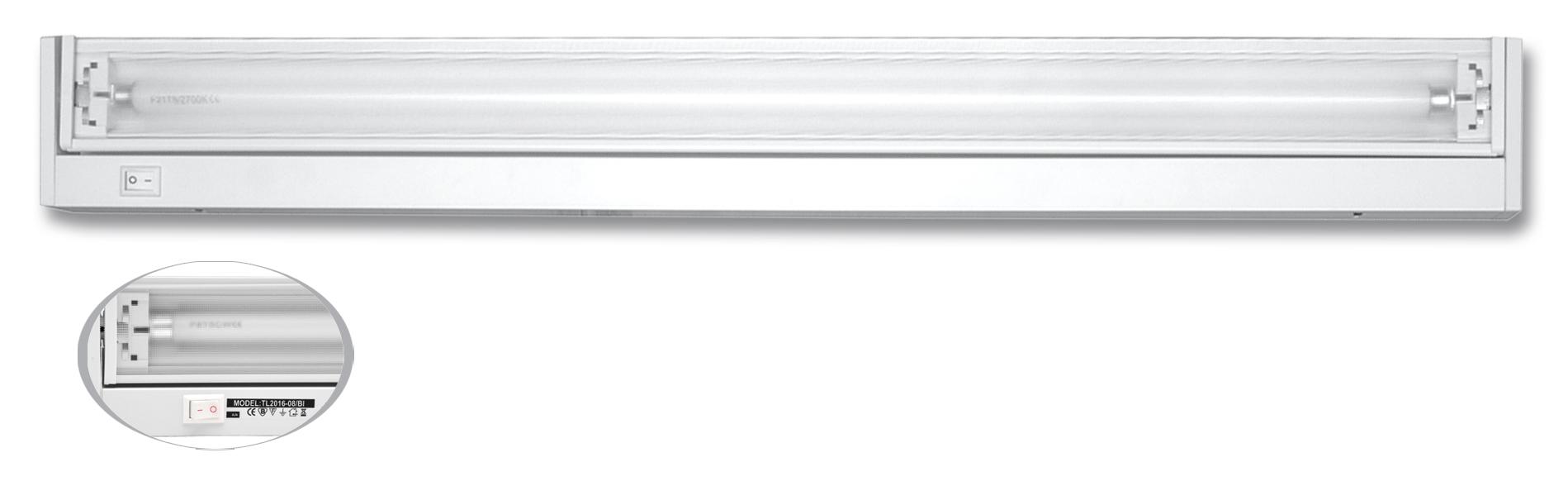 Ecolite TL2016-08/BI (Svietidlo žiarivkové 8W výklopné biele)